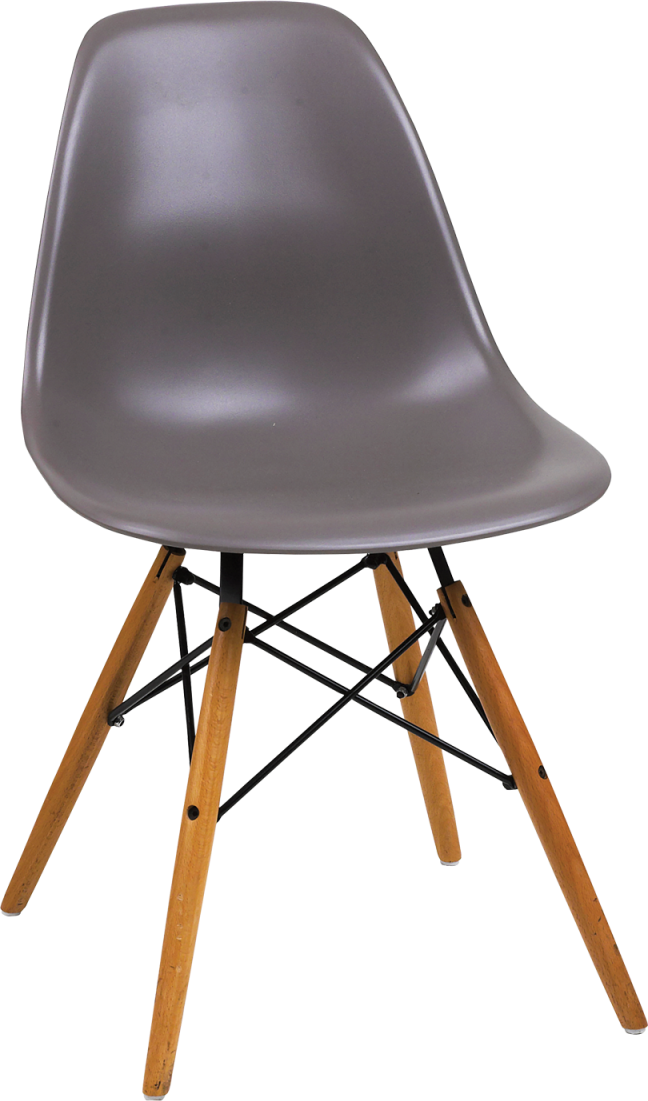Eiffel Chair Wooden Legs Polymer Seat Hire for Events
