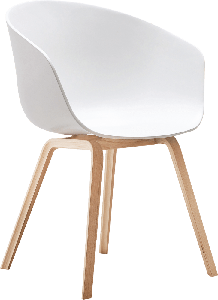 Equator Chair White Polymer Seat Wooden Legs Hire for Events