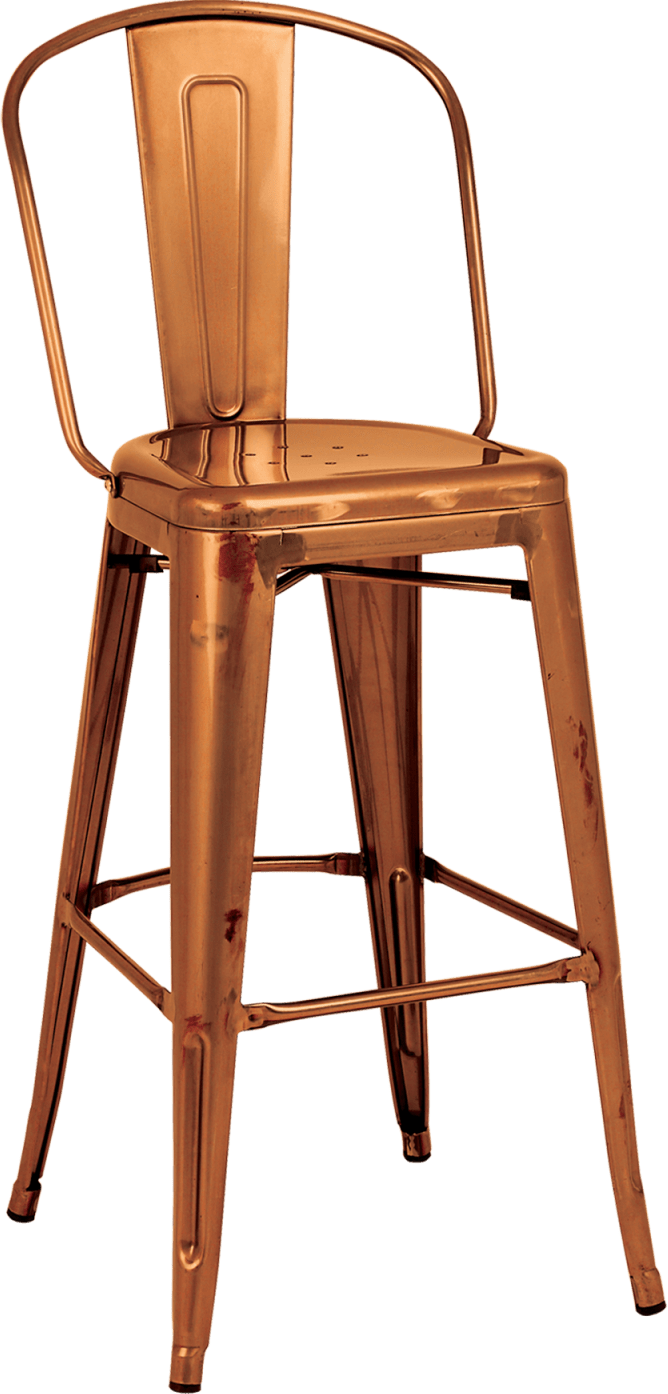 Superb Tolix High Back Stool Stools Dzine Furnishing Solutions Ltd Gmtry Best Dining Table And Chair Ideas Images Gmtryco