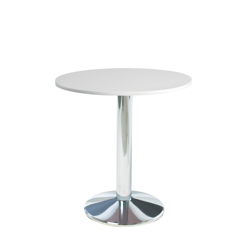 Milan Bistro Wooden Top Chrome Base