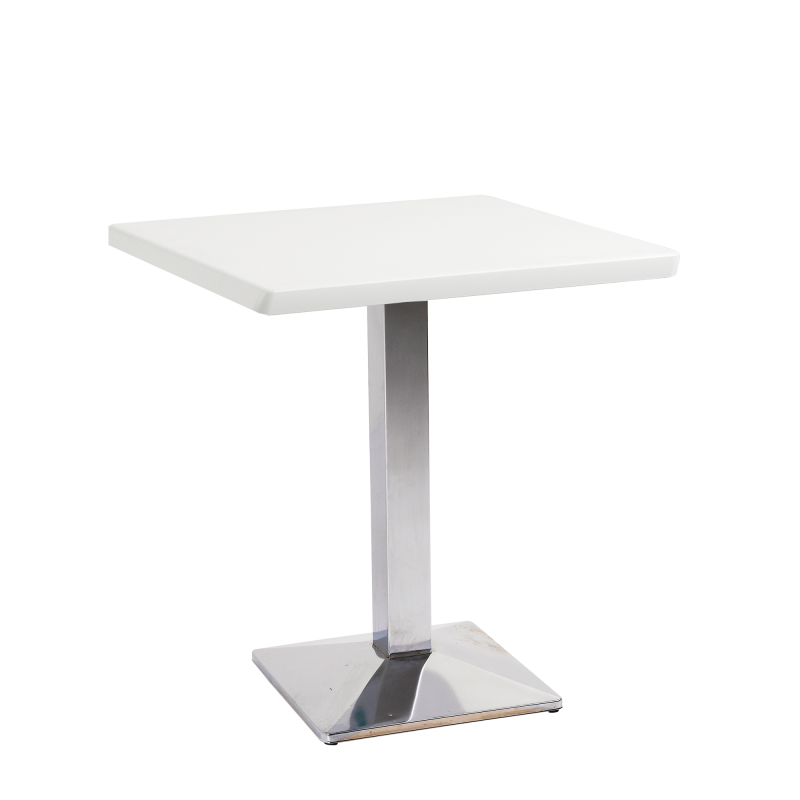 Rome Square Bistro Table Wooden Top