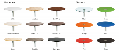Milan Chrome Base Bar Table Wooden Top