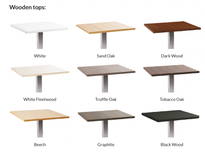 Rome Square Wooden Top Bar Table