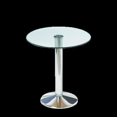 Milan Bistro Table Glass Top Chrome Base Bistro Tables Dzine